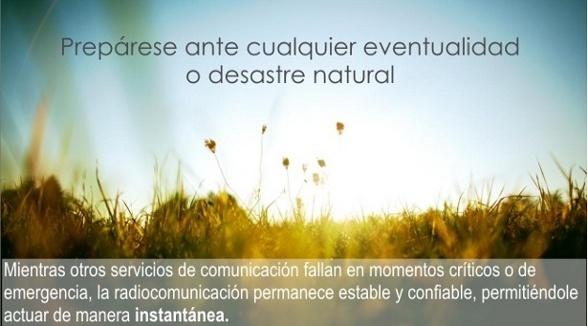 Radiocomunicación ante desastres naturales