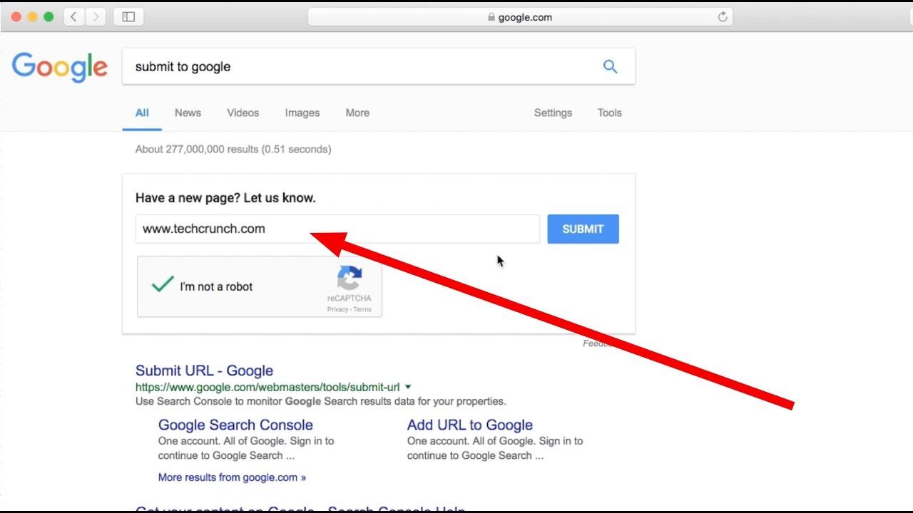 Google submit URL cũ