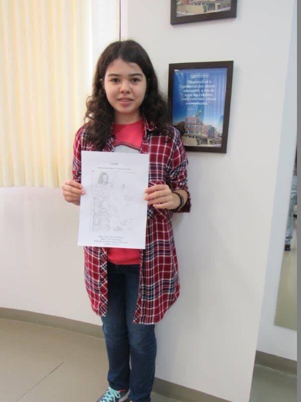 Desenho de aluna conquistou 1º lugar na Olimpíada de Física