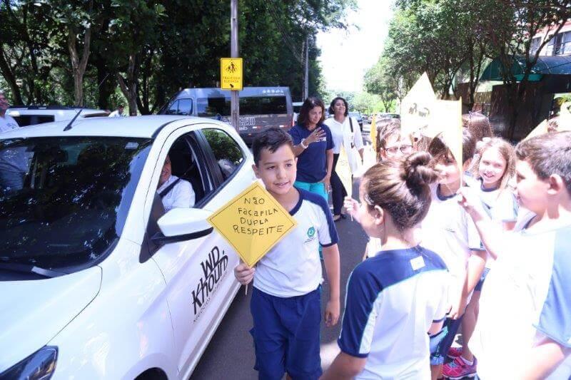5º ano realizou conscientização de trânsito no Colégio