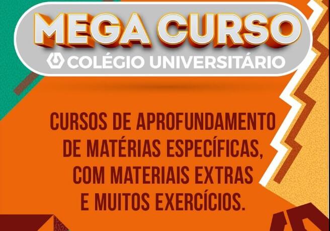 Mega Cursos são novidade para alunos de Terceirão e Cursinho