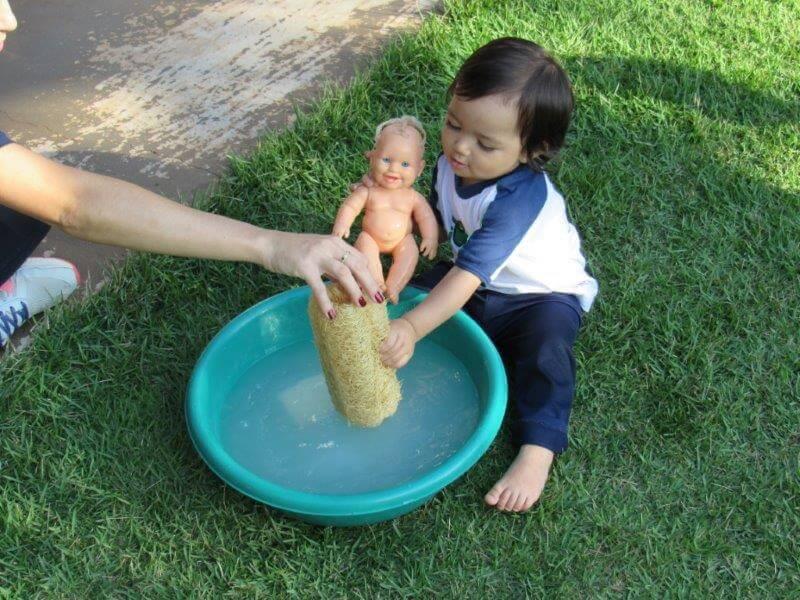 UniBaby trabalhou com a higiene corporal