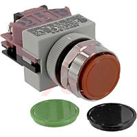 ABW101 IDEC Momentary Pushbutton Switch, Black-Red-Green Flush