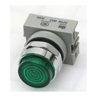 APW199-G-120 - IDEC Pilot Light Switch, Green, 120VAC