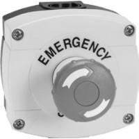 D7-1YPB14-PX01-ER - Emergency Stop Pushbutton Station Type 4/4X/13 (IP66). 40mm twist-to-release E-stop.