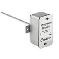 "THGA040 - Tasseron Duct Temperature Sensor 10K type 2 Galvanized Box, 4"" Probe, Qwik Box"