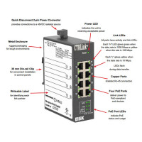 EISK8P-GT - 8 Port Unmanaged Ethernet Switch w/Gigabit Ethernet GigE on all Ports