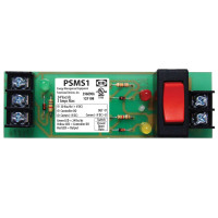 "PSMS1 - 4 - Functional Devices 4.00"" Track Mount Override Switch 24Vac with LED Indicators"