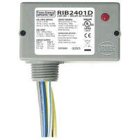 RIB2401D - Functional Devices Enclosed Relay 10Amp DPDT 24Vac/dc/120Vac