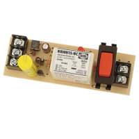 RIBMH1S-NC - Panel Relay, 15 Amp, SPST-NC + Override 10-30Vac/d