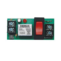 RIBMN24S - Functional Devices Panel Relay 2.75x1.25in 15Amp SPST + Override 24Vac/dc