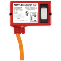 SIB05S-RD - Enclosed Switch 20 Amp, 2 Position Maintained, On/Off, 2 Wires, Red Housing
