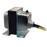 TR50VA005US - Transformer US made 50VA, 120-24V, single hub, Class 2 C-UL Listed, Cir. Break.