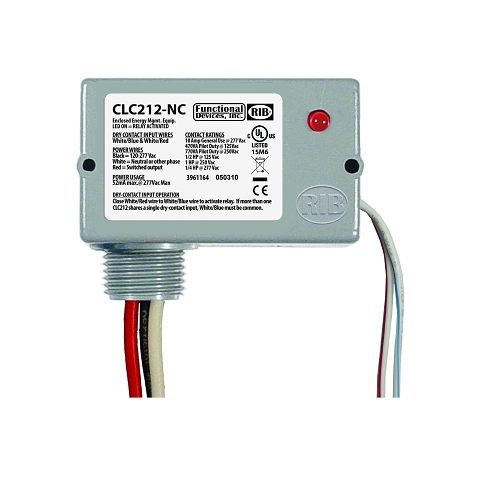 CLC212-NC - Closet Light Switch, Enclosed 10A SPST, 120-277 Va