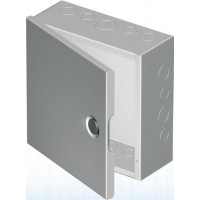 "1100 E060603 - EXM NEMA 1 Hinged Cover Junction Box, 6"" x 6"" x 3"" , side knockouts"