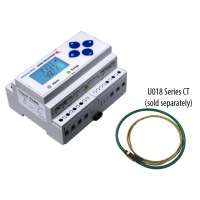 E50C2A - Veris RTU Din-Mount, Power and Energy Meter, Modbus,For U018 CTs