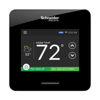 WISERAIR10BLKUS - Schneider Electric Wiser Air Wi-Fi Smart Thermostat, Touch Screen, 24V, Black