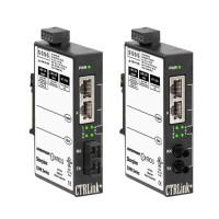 EIMK-100T/FCS - Contemporary Controls, Industrial Ethernet Media Converter, 100BASE-TX/100BASE-FX SM SC Connector