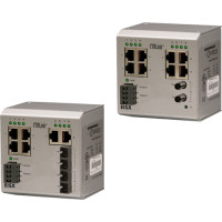EISX9-100T/FT - Contemporary Controls Compact Switch, 8 Ports 10/100 Mbps, 1 Port 100 Mbps MM Fibre ST Connector