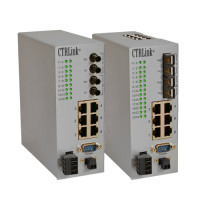 EIDX16M-100T/FT - Contemporary Controls Automation Switch, 14 Ports 10/100 Mbps, 2 Ports 100 Mbps MM Fibre ST Connector