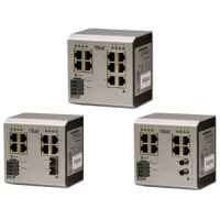 EICP8-100T/FT - Contemporary Controls, Switching Hub, Six-Port 100BASE-TX/Two-Port 100BASE-FX MM ST Connector