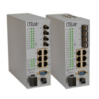 EIDX16MP-100T/FT - Contemporary Controls Automation Switch, 14 (8PoE) Ports 10/100 Mbps, 2 Ports 100 Mbps MM Fibre ST Connector