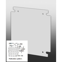 "881 SP2016P - EXM 20"" X 16"" Perforated Back Plate for 1100 Series Enclosures"