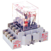 CKIT-VMD4B-C24A - Veris Industries 4PDT Relay and Socket Kit, 10A, 24VDC Coil, 20 ms Operating Time