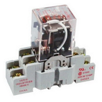 FKIT-VMD2B-C24A - Veris Relay & Socket Kit,DPDT -C w/- F Socket,24VAC