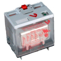 VMD4B-F24A - Veris Industries Full Featured 4PDT Relay, 10A, 24VDC Coil, 20 ms Operating Time