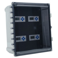 "AE013 - Veris Industries 4 Meter NEMA 4x Enclosure, 13.4"" x 6.5"" x 15.5"", For E5x Series Meters"