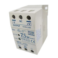 PS5R-A12 - IDEC Standard Series Switching Power Supply, 12VDC, 0.6A, 7.5W, Din-Rail Mount