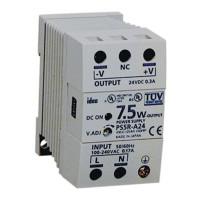 PS5R-A24 - IDEC Standard Series Switching Power Supply, 24VDC, 0.3A, 7.5W, Din-Rail Mount