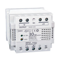 PS5R-C12 - IDEC Standard Series Switching Power Supply, 12VDC, 2.5A, 30W, Din-Rail Mount
