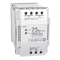 PS5R-Q24 - IDEC Standard Series Switching Power Supply, 24VDC, 3.1A, 75W, Din-Rail Mount