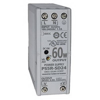 PS5R-SD24 - IDEC Slim Series Switching Power Supply, 24VDC, 2.5A, 60W, Din-Rail Mount