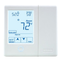 557 - Tekmar Thermostat, Radiant Floor, 2 Heat Pump/Cool, Backup, Humidity, 24V, Microprocessor Control
