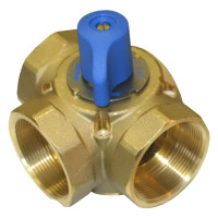 "710 - Tekmar Mixing Valve, 3-Way, 3/4"" FNPT, Brass, 7 Cv"