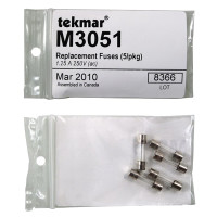M3051 - Tekmar Replacement Fuses, 250VAC, 1.25A, 5 per Pack