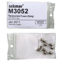 M3052 - Tekmar Replacement Fuses, 250VAC, 15A, 5 per Pack