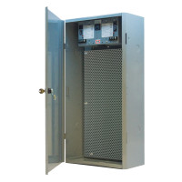 "MHP3904100A100AB10 -Functional Devices 12.50""x 24.50""x 6.50""  Enclosure with Dual 100 VA Power Supply with Perforated Steel Subpanel"