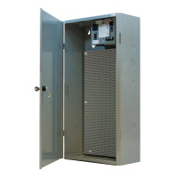 "MHP3904100AB10 - Functional Devices 12.50""x 24.50""x 6.50"" Enclosure with single 100 VA power supply with perforated steel subpanels"