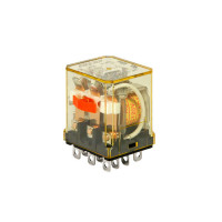 RH3B-ULCAC24V - IDEC Plug-in Relay 3PDT 10A 24VAC Coil with LED & Check Button