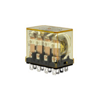 RH4B-ULAC24V - IDEC Plug-In Relay 4PDT 10A 24VAC Coil with LED