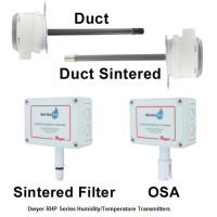 RHP-2D11-LCD - Dwyer Humidity/Temperature Transmitter, Duct with Membrane Filter, 4-20mA RH&Temp, LCD