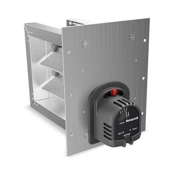Zd10x10tz honeywell honeywell truezone zd series damper for Honeywell damper control motor