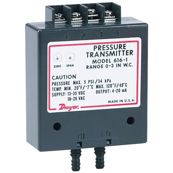 Dwyer 616C Series 616C-3B Differential Pressure Transmitter