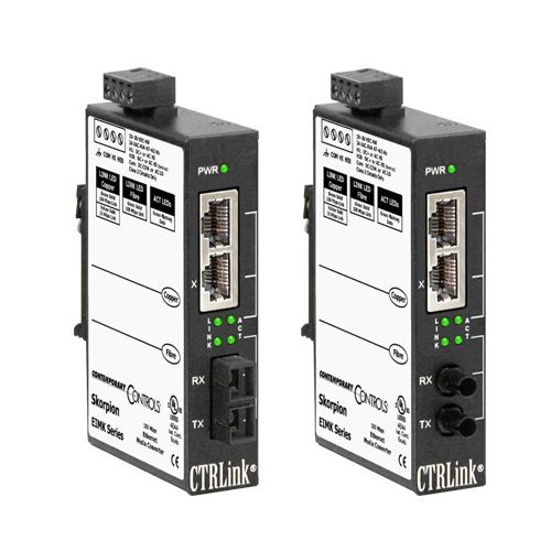 Contemporary Controls EIMK Series EIMK-100T/FCS Industrial Ethernet Media Converter