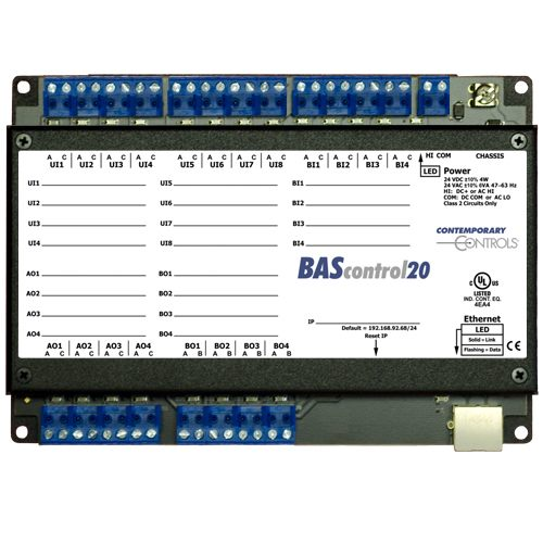 Contemporary Controls BAScontrol Series BASC-20T Sedona Field Controller