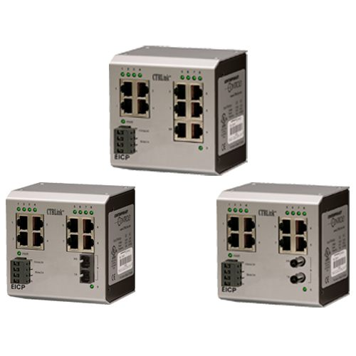 EICP8-100T/FC - Contemporary Controls, Switching Hub, Six-Port 100BASE-TX/Two-Port 100BASE-FX MM SC Connector